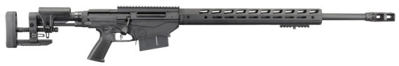 New Model – Now in Magnum Calibers! Ruger Precision Rifle 18080  – 338 Lapua – 26 inches 1:9.375″ RH – MSR Folding Stock – Adjustable Trigger – Threaded – Hybrid Muzzlebrake – 30MOA Rail – M-LOK Handguard