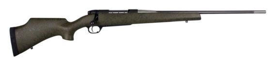 Weatherby MARK V CAMILLA Ultra Lightweight 6.5Creedmoor 24″ 4+1 Green Stock with Black Webbing – Designed for Women!