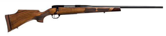 New! Weatherby MARK V CAMILLA DE LUXE 6.5 Creedmoor 24″ 4+1 Black Gloss Barrel with AA Grade Claro Walnut Stock with Checkering and Inserts – Designed for Women!