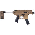 New! Sig Sauer PMPX3BCH MPX Copperhead AR Pistol 9mm 20+1 – 3.5″ Coyote Cerakote Receiver/Black Barrel with Pivoting Contour Brace (PCB)