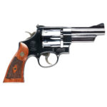 New! Smith & Wesson Mod 27 150339 Classic 357 Mag 4″ Blued 6rd  Checkered Square Butt Walnut Grip Adjustable Rear Sight