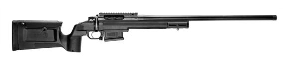 New! Seekins Precision HAVAK BRAVO, Bolt Action Rifle, 6.5 Creedmoor, 24″ 5R Stainless Match Grade Barrel, Black Cerakote Finish, KRG Black Bravo Chassis Stock, 5Rd Magpul Detachable AI Magazine, Timney Trigger, Threaded 5/8-24 with Thread Protector
