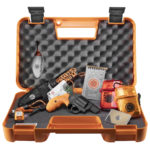 Smith & Wesson 12601 360 Survival Kit Revolver Single/Double 357 Magnum 1.875″ 5 Rd Synthetic Safety Orange Grip Black Matte Includes a Survival Kit and Case