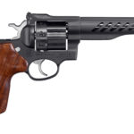New Model! Ruger 5065 Super GP100 CUSTOM SHOP 357Mag 8 Rounds Fiber Optic 5.5in Hogue® Hand-Finished Hardwood