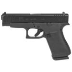 Back in Stock! Glock 48 Black Night Sights 9mm Compact 4.17″ 10+1 Black Slide – Integral Grip Black Frame – 2 10rd Magazines