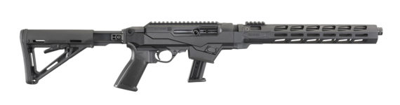 New Model! RUGER® 19122 PC CARBINE™ CHASSIS Semi-Automatic 9mm Luger 16.12″ Threaded Barrel 17+1 Adjustable Black Synthetic Chassis Stock with Aluminum Free-Float M-LOK Handguard – Hard Coat Anodized Black- Ruger or Glock magazines