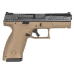 New! CZ 91532 P-10C Compact 9mm Striker Fired 4.02″ 15+1 with Rail and Night Sights Nitride Back Slide/FDE Polymer Frame – Interchangeable Grips – 2 Mags