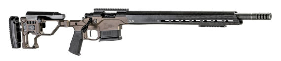 New! Christensen Arms Modern Precision Rifle (MPR) 6.5 PRC – Chassis – Desert Brown Anodized Receiver – Carbon Fiber Wrapped SS Barrel 24in with Muzzlebrake – Carbon Handguard – Adjustable Stock – AICS Magazine
