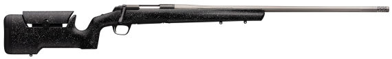 New Limited Production! Browning 035-438294 XBolt MAX LONG RANGE 6.5 PRC 3+1 26in Stainless/Fluted Barrel w/Muzzle Brake – Adjustable Comb MAX Stock in Black with Grey Specks  – Detachable Magazine