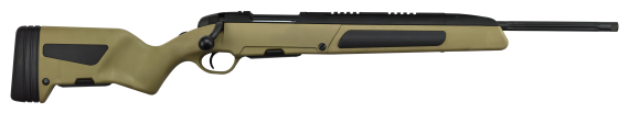 New! STEYR ARMS SCOUT 6.5 Creedmor 19″ Threaded – 2 Mags, Integrated Bipod and Sights – Spare magazine in Stock – Rail for both traditional and Scout type scopes -MUD (FDE) Color