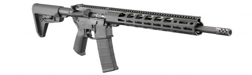 New! Ruger 8514 AR-556 MPR 556 NATO / 223 Rem 18″ 30+1 Black Hard Coat Anodized Black M-LOK Handguard Adjustable Magpul MOE SL Stock Black Magpul MOE Grip
