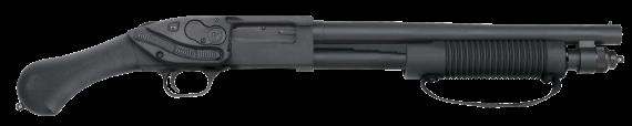 NEW – ONE UNIT! Mossberg 50638 590 Shockwave RAPTOR Pump 12 Gauge 3″ 14″ Barrel Black  – Crimson Trace Laser Saddle – Bird Head Grip