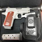 New for 2021 – Special Package! Kimber Micro 380 RTC Stainless Package – 380 ACP – 7+1 – Stainless Alloy – Night Sights – Includes Holster/Mag holster combo and Three 7 Round magazines
