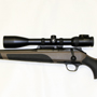 Blaser R8 multicaliber (shown with a 308 Winchester Barrel and left handed bolt). The scope is a Second Generation Swarovski Z6i 5-30x50 4A-I.