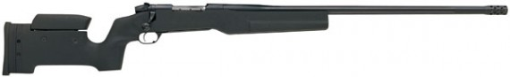 Weatherby TCM338LR8B Tactical MarkV Bolt 338 Lapua Mag 28″ Black Syn Black