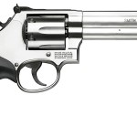 Back in Stock! Smith & Wesson Model 686 Distinguished Combat 357 Mag 6″ 6rd Adj White Outline/Red Ramp Stainless Steel