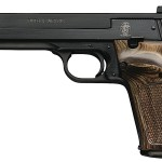 Back in Stock – Limited Production! Smith & Wesson 130511 Model 41 – 5.5 inches – 22 LR – 10+1 Adjustable Sight – Wooden Target Grip with Thumbrest – Blue