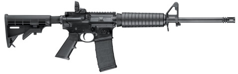 Back in Stock! Smith & Wesson 10202 M&P SPORT II SA 223 Rem/5.56 NATO 16″ 30+1 6-Pos Stock Black Matte
