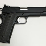 New for 2017! Nighthawk The Bull Government 45 ACP – Front Strap Treatment – One-piece Mainspring Housing and Magwell – Bull Barrel – Bull Nosed Slide. Nighthawk Moonhawk Logo – Rear Coarse Cocking Serrations – Tactical Curved Slide Stop –  Bevel and Recessed Slide Stop – Heinie Ledge Rear Tritium Sight and NH Tritium Front Sights – Short Solid Trigger – Cerakote Midnight Over Smoke Black finish – Two 8rd Magazines