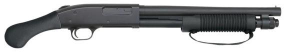 BACK IN STOCK – ONE UNIT! Mossberg 50659 590 Shockwave Pump 12 Gauge 3″ 14″ Barrel Black Synthetic – Bird Head Grip Blued