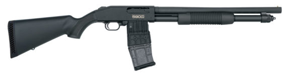 Back in Stock! Mossberg 50205 590M Pump 12 Gauge 18.5″ 2.75″ Magazine Fed 10+1 Synthetic Black Stock Blued