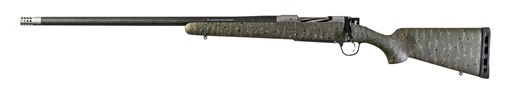 New! Christensen Arms RIDGELINE 6.5 Creedmoor LEFT HAND 24in 4+1 Carbon Fiber Wrapped Barrel – Threaded with Detachable Muzzlebreak – Green with Black and Tan Webbing – SUB MOA