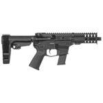 New! CMMG MkG Banshee 300 Pistol, 45 ACP, 5″ Barrel, Aluminum Frame, Graphite Black Cerakote, 13Rd, CMMG RipBrace Pistol Brace, Thread Protector, CMMG RML4 Hand Guard, Magpul MOE Pistol Grip, Ambi Sling Plate, Ambi Selector, Ambi Charging Handle, 1 Glock 45ACP 13Rd Magazine