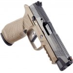 New! Wilson Combat SIG WCP320F9T 9mm 4.70″ 17+1 Stainless Steel Slide with Black DLC Coating Enhanced Tan Polymer Grip, Action Tuned with Straight Trigger – 2 Mags