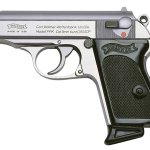 Back in Stock! Walther PPK Semi-automatic Pistol 380ACP 3.3 in – Stainless Steel – Fixed Sights, 6Rd – 2 Magazines
