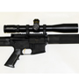 The meanest AR-15 of the block. Bushmaster Heavy Barrel Rifle with a Schmidt and Bender scope.
