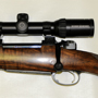 The client chose wisely a Schmidt and Bender 1.1-4x24 Zenith. His shoulder may not take the recoil but the scope will!