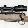 Designed for dangerous game and having heavy recoil, we matched it with a Swarovski Z6i 1-6x24 with extended eye relief and the illuminated dangerous game CD reticle.
