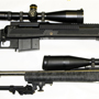 A long range pair: Long distance? A Remington Sendero SFII in 300 Winchester Magnum with the new Nightforce 5.5-22x56 Velocity 1000 scope (below). Very Long  Distance? Savage 110BA DBM Law Enforcement Tactical in 338 Lapua with best-in-class Schmidt & Bender 5-25x56 with P4F reticle (above).